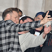 Olly Murs singing autography and selfies with fan attend Johnny English Strikes Again at CURZON MAYFAIR, London, Uk. 3 October 2018.