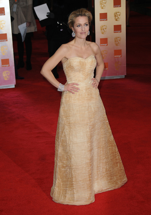 Gillian Anderson attends the Orange British Academy Film Awards 2012 at the Royal Opera House, London, UK.. 12/02/2012 Anne-Marie Michel/CatchlightMedia