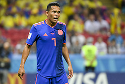 June 25, 2018 - Kazan, Russia - Carlos Bacca of Colombia during the 2018 FIFA World Cup Group H match between Poland and Colombia at Kazan Arena in Kazan, Russia on June 24, 2018  (Credit Image: © Andrew Surma/NurPhoto via ZUMA Press)