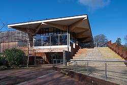 John Hope Gateway visitor centre at Royal Botanic Garden Edinburgh, Scotland, UK