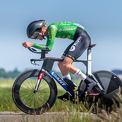 EMMEN (NED) June 16: <br />CYCLING <br />Dutch Nationals Time Trail men U23 <br />Redmar Dijkman
