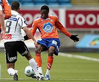 Fotball , 13. april 2008 , Tippeligaen , Odd - Aalesund 4-2<br /> <br /> Demar Phillips , Aalesund
