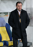 LVIV, UKRAINE - DECEMBER 07: Coach  Iurii Vernydub of Zorya Luhansk. UEFA Europa League Group J match between Zorya Luhansk and Athletico Bilbao at Arena Lviv in Lviv, Ukraine. December 07, 2017