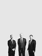 BIRMINGHAM, AL – APRIL 4, 2016: Richard Murray, IV (left),  John Holcomb, III (center) and Will Matthews, V (right) of National Commerce Corporation.