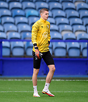 Lincoln City's Josh Griffiths during the pre-match warm-up<br /> <br /> Photographer Andrew Vaughan/CameraSport<br /> <br /> The EFL Sky Bet League One - Sheffield Wednesday v Lincoln City - Saturday 23rd October 2021 - Hillsborough Stadium - Sheffield<br /> <br /> World Copyright © 2021 CameraSport. All rights reserved. 43 Linden Ave. Countesthorpe. Leicester. England. LE8 5PG - Tel: +44 (0) 116 277 4147 - admin@camerasport.com - www.camerasport.com