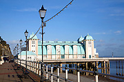Promenade, pier and beach in winter, Penarth, Wales