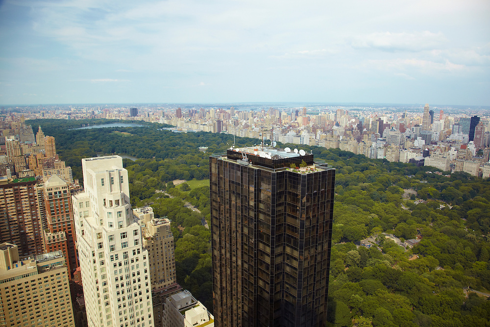View of Central Park from 80 Columbus Circle, 77th floor