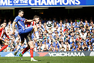 Chelsea Forward Diego Costa (19) stretches for the ball  during the Premier League match between Chelsea and Sunderland at Stamford Bridge, London, England on 21 May 2017. Photo by Andy Walter.