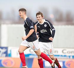 Falkirk's Stewart Murdoch celebrates after scoring their second goal..Falkirk 4 v 1 Forfar Athletic, Scottish Cup fifth round tie, 2/2/2013. .©Michael Schofield.