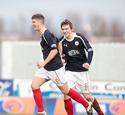 Falkirk's Stewart Murdoch celebrates after scoring their second goal..Falkirk 4 v 1 Forfar Athletic, Scottish Cup fifth round tie, 2/2/2013. .©Michael Schofield.