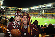 May 25th 2011: QLD fans show their support before game 1 of the 2011 State of Origin series at Suncorp Stadium in Brisbane, Australia on May 25, 2011. Photo by Matt Roberts/mattrIMAGES.com.au / QRL