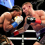 HOLLYWOOD, FL - APRIL 17:  Liam Williams punches  Demetrius Andrade during the WBO Middleweight Championship fight at Seminole Hard Rock Hotel & Casino on April 17, 2021 in Hollywood, Florida. (Photo by Alex Menendez/Getty Images) *** Local Caption *** Demetrius Andrade; Liam Williams