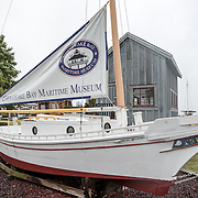 A traditional boat on display at the Chesapeake Bay Maritime Museum in St. Michaels on Maryland's Eastern Shore.