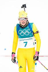 February 12, 2018 - Pyeongchang, SOUTH KOREA - 180212  Hanna …berg of Sweden after the Women's Biathlon 10km Pursuit during day three of the 2018 Winter Olympics on February 12, 2018 in Pyeongchang..Photo: Jon Olav Nesvold / BILDBYRN / kod JE / 160156 (Credit Image: © Jon Olav Nesvold/Bildbyran via ZUMA Press)