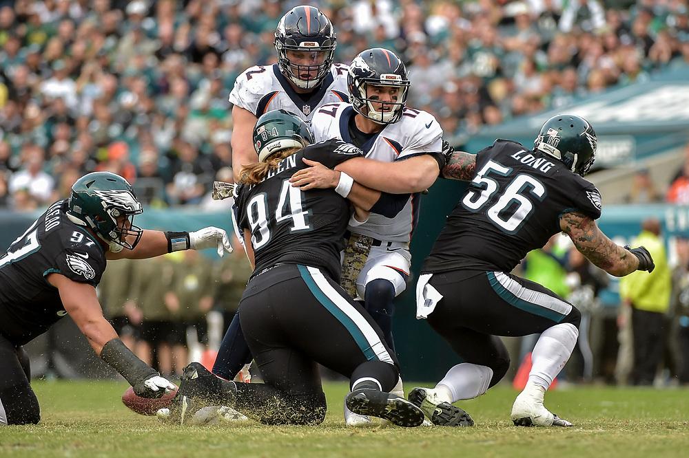 Nov 5, 2017; Philadelphia, PA, The Philadelphia Eagles against the Denver Broncos at Lincoln Financial Field. The Eagles won 51-23. (Photo by John Geliebter/Philadelphia Eagles)