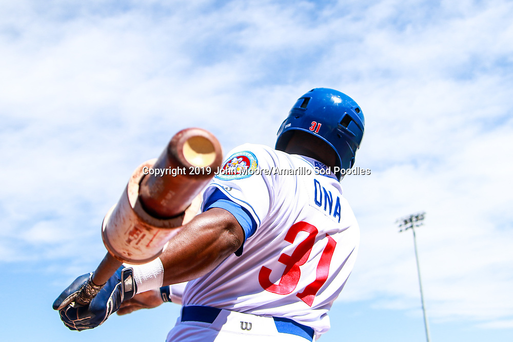 Amarillo Sod Poodles outfielder Jorge Ona (31) against the Corpus Christi Hooks on Sunday, April 14, 2019, at HODGETOWN in Amarillo, Texas. [Photo by John Moore/Amarillo Sod Poodles]