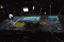 07.10.2011,  O2 World, Hamburg, GER, DEL, Hamburg Freezers vs Eisbaeren Berlin, im Bild Feature Projektion von Hamburg auf das Eis. // during match at O2 World 2011/10/07, Hamburg  EXPA Pictures © 2011, PhotoCredit: EXPA/ nph/  Witke       ****** out of GER / CRO  / BEL ******