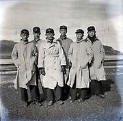 student group portrait Japan ca 1940s
