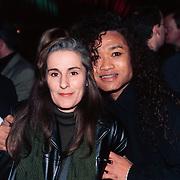 Nieuwjaarsreceptie Strengholt 1997, Daniel Sahuleka en vriendin