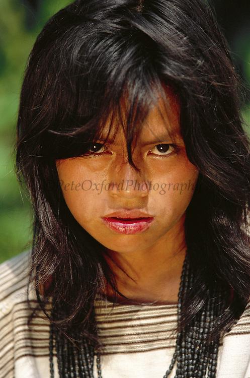 Machiguenga Indian<br />Timpia Community<br />Lower Urubamba River. Amazon Rain Forest<br />PERU.  South America