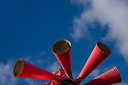 A detail of red warning sirens, on 19th October 2016, in Aude, france.