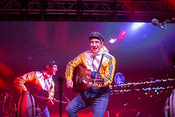 Gerry Cinnamon on the Waverley Stage. Hogmanay in Edinburgh.