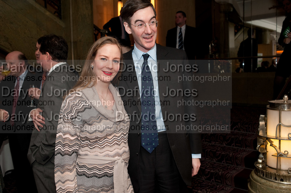 HELENA REES MOGG; JACOB REES MOGG,  House of Lords and House of Commons Parliamentary Palace of Varieties in aid of Macmillan Cancer Support. <br /> Park Lane Hotel, Piccadilly, London, 7 March 2012.