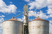 Wheat silos at transport terminal in Echuca, Victoria, Australia <br />