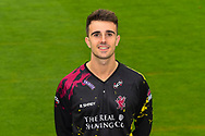 Head shot.  Ben Green wearing the Somerset Vitality Blast kit at the media day at Somerset County Cricket Club at the Cooper Associates County Ground, Taunton, United Kingdom on 11 April 2018. Picture by Graham Hunt.