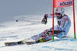 27.10.2013, Rettenbach Ferner, Soelden, AUT, FIS Weltcup, Ski Alpin, Riesenslalom, Herren, 1. Durchgang, im Bild Thomas Fanara from France // Thomas Fanara from France in action during 1st run of mens Giant Slalom of the FIS Ski Alpine Worldcup opening at the Rettenbachferner in Soelden, Austria on 2012/10/27. EXPA Pictures © 2013, PhotoCredit: EXPA/ Mitchell Gunn<br /> <br /> *****ATTENTION - OUT of GBR*****