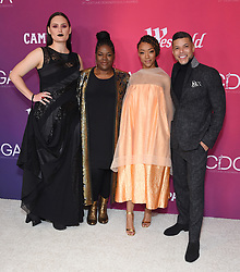 February 19, 2019 - Beverly Hills, California, U.S. - Mary Chieffo, Gersha Phillips, Sonequa Martin-Green and Wilson Cruz arrives for the 21st CDGA (Costume Designers Guild Awards) at the Beverly Hilton Hotel. (Credit Image: © Lisa O'Connor/ZUMA Wire)