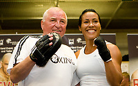 Boksing , 26. mai 2009 , Cecilia Brækhus   Norway preparing for her WBA/WBC female welterweight title defense fight against Amy Yuratovac of U.S.A. Pictures from the training session at Ruskeasuo Sports arena on the 26th of May 2009.<br /> Photos : Ville Vuorinen/Digitalsport