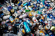 """SHOT 10/22/17 9:47:52 AM - Hundreds of empty beer cans in the bed of a pickup truck as Buffalo Bills fans tailgate at the Hammer's Lot at the Pinto Ron tailgate party before the Buffalo Bills faced the Tampa Bay Buccaneers in Orchard Park, N.Y. Ken Johnson, better known as """"Pinto Ron"""", (born 1958) is a Buffalo Bills fan known for attending every single Bills home and away game and hosting a tailgate party since 1994. He is known for his red Ford Pinto and antics cooking food on his car hood in a variety of objects such as a shovel and army helmet; furthermore, he holds a tradition of being doused in ketchup and mustard. Most notably he served shots out of a bowling ball until he was forced to shut down by the National Football League (NFL) Johnson moved his tailgate party to private property next to the stadium where the NFL has no jurisdiction and was able to resume serving bowling ball shots. He has been featured in multiple NFL Films, as well as the made-for-TV movie Second String. (Photo by Marc Piscotty / © 2017)"""