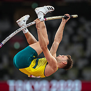 TOKYO, JAPAN August 3:   Kurtis Marschall of Australia in action during the Pole Vault Final for Men at the Olympic Stadium during the Tokyo 2020 Summer Olympic Games on August 3rd, 2021 in Tokyo, Japan. (Photo by Tim Clayton/Corbis via Getty Images)