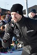 De Hollandse 100 op FlevOnice, een sportief evenement ter ondersteuning van onderzoek naar lymfeklierkanker. Een oer-Hollandse duatlon bestaande uit twee onderdelen: schaatsen en fietsen. <br /> <br /> The Dutch 100 on FlevOnice, a sporting event to support research into lymphoma. A traditional Dutch duathlon consisting of two components: skating and cycling.<br /> <br /> Op de foto:  Simon Keizer