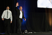 LAS VEGAS, NV - JULY 10:  Mark Coleman and Pete Williams take the stage to be inducted into the UFC Hall of Fame at the Las Vegas Convention Center on July 10, 2016 in Las Vegas, Nevada. (Photo by Cooper Neill/Zuffa LLC/Zuffa LLC via Getty Images) *** Local Caption *** Mark Coleman; Pete Williams