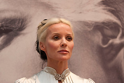 © Licensed to London News Pictures. 21/06/2012. LONDON, UK. Daphne Guinness is seen ahead of an auction at Christies South Kensington Auction House in London today (21/0612).  The auction, held in aid of The Isabella Blow Foundation, features 102 lots of shoes, clothes and photographs from Daphne Guinness's private collection and is expected to realise in the region of £100,000 when it takes place on the evening of the 27th of June. Photo credit: Matt Cetti-Roberts/LNP