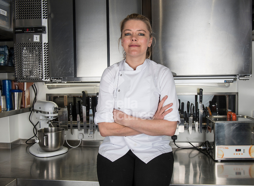 Chef Marianne Lumb pictured at her west London restaurant. <br /> Picture by Daniel Hambury/Stella Pictures Ltd +44 7813 022858<br /> 24/03/2016