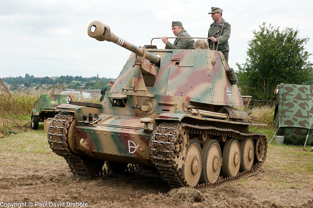 Marder III Ausf H (Sd.Kfz. 138) Tank Killer of the 21st Panzer Division at Spam Wartime Weekend June 2011<br /> <br /> © Paul David Drabble
