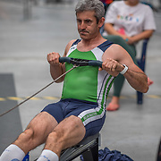 Ger Sheehan MALE HEAVYWEIGHT Masters C 500mtr Race #18  01:30pm <br /> <br /> www.rowingcelebration.com Competing on Concept 2 ergometers at the 2018 NZ Indoor Rowing Championships. Avanti Drome, Cambridge,  Saturday 24 November 2018 © Copyright photo Steve McArthur / @RowingCelebration