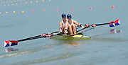 Chungju, South Korea  USA W2X, Bow, Meghan O'LEARY and Ellen TOMEK, move away from the start at the 2013 FISA World Rowing Championships,  at the Tangeum Lake International Regatta Course. 11:24:06  Monday  26/08/2013 [Mandatory Credit. Peter Spurrier/Intersport Images]