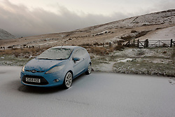 © Licensed to London News Pictures. 12/03/2020. Brecon Beacons, Powys, Wales, UK. Wintry conditions in the Brecon Beacons National Park, Powys, Wales, UK. Photo credit: Graham M. Lawrence/LNP
