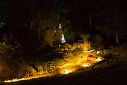 Illumination of the cascade and stream in Hestercombe Gardens. Part of the Illumina Project by Ulf Pedersen.