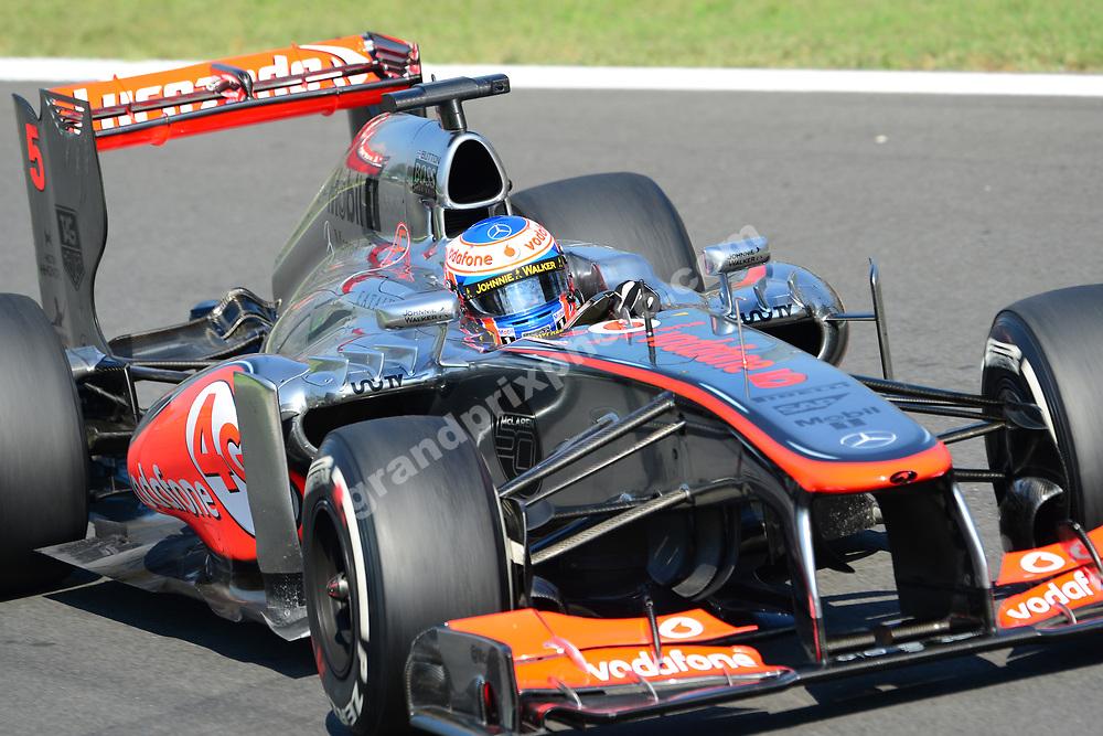 Jenson Button (McLaren-Mercedes) during practice for the 2013 Italian Grand Prix in Monza. Photo: Grand Prix Photo