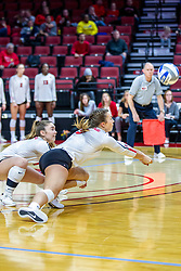 BLOOMINGTON, IL - November 22: Katelyn Keefe during a college Women's volleyball match between the ISU Redbirds and the Sycamores of Indiana State on November 22 2019 at Illinois State University in Normal, IL. (Photo by Alan Look)