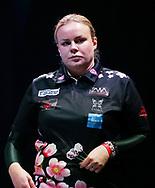 Anastasia Dobromyslova during the BDO World Professional Championships at the O2 Arena, London, United Kingdom on 9 January 2020.
