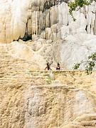 Bagni San Filippo, Toscana, people at the natural termal baths