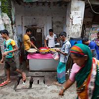 A street scene around in old Dhaka, Bangladesh.