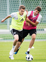 June 13, 2018 - Moscow, Russia - 180613 Matthias Ginter and Thomas Muller of Germany during a practice session ahead of the 2018 FIFA World Cup on June 13, 2018 in Moscow..Photo: Petter Arvidson / BILDBYRN / kod PA / 92061 (Credit Image: © Petter Arvidson/Bildbyran via ZUMA Press)
