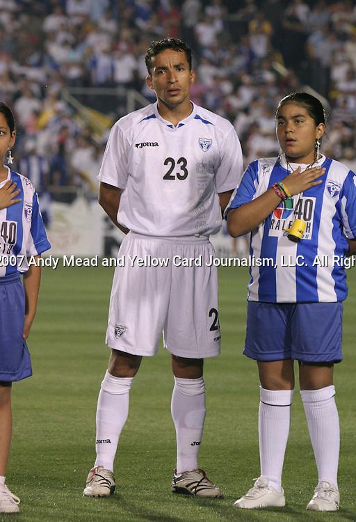 Honduras's Ivan Guerrero on Tuesday, March 27th, 2007 at SAS Stadium in Cary, North Carolina. The Honduras Men's National Team defeated El Salvador 2-0 in a men's international friendly.